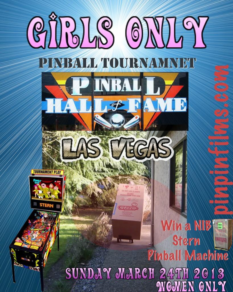 Women only Vegas Pinball Tournament Flyer 2