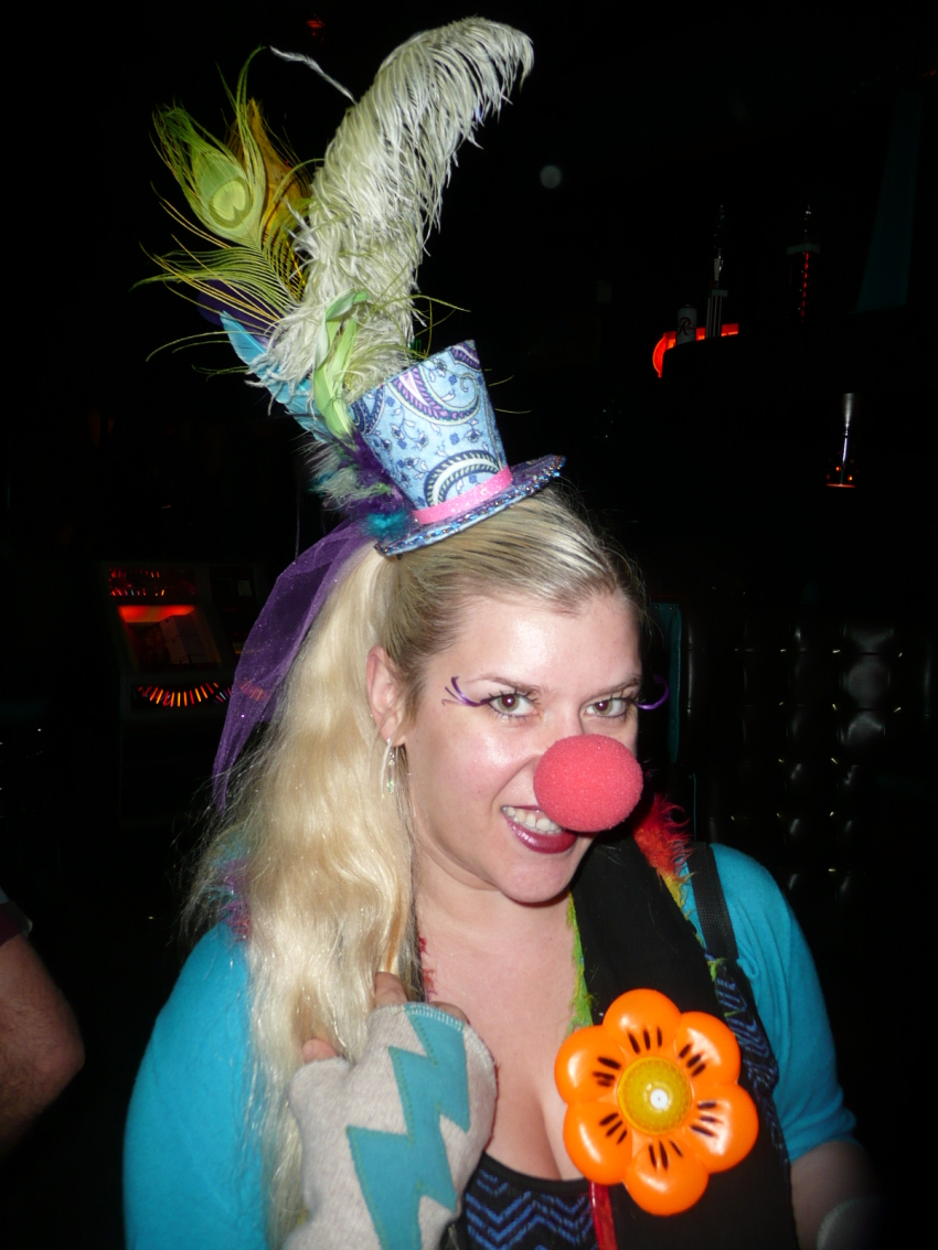 Kelsey at the Clown Tournament