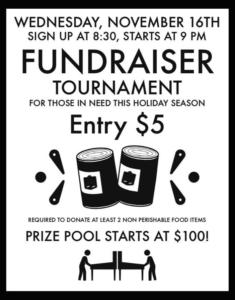 Food Drive Fundraiser Tournament